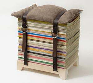 3 DIY κατασκευές από παλιά περιοδικά για το σαλόνι