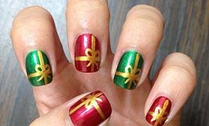 Nails art: Εντυπωσιακά μανικιούρ για τα Χριστούγεννα