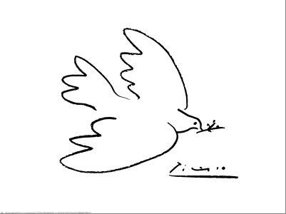 Αποτέλεσμα εικόνας για περιστέρι της ειρήνης πικάσο
