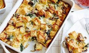 Σουφλέ με αλλαντικά, τυρί και μανιτάρια