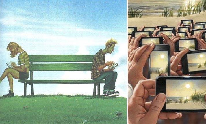 5 καυστικά σκίτσα που αναπαριστούν την σύγχρονη κοινωνία μας