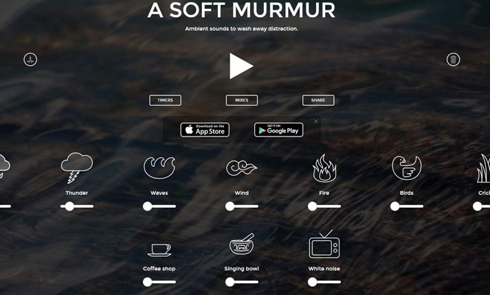 A Soft Murmur – Μια ιστοσελίδα που παράγει λευκό θόρυβο