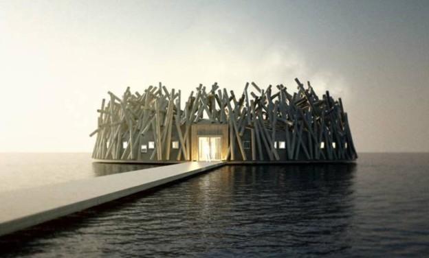 Arctic Bath Hotel & Spa: Ένα πλωτό ξενοδοχείο κάτω από τον αρκτικό ουρανό