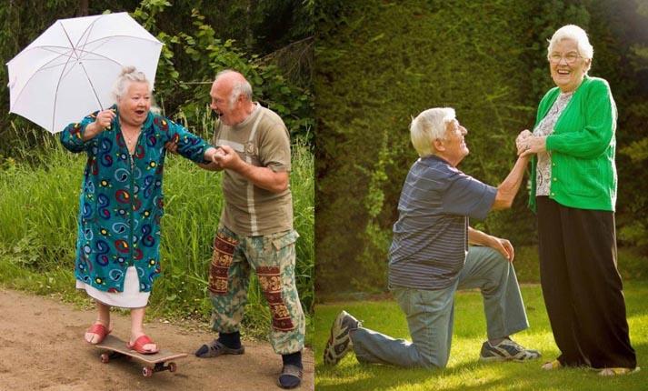 Αστεία και συγκινητικά ηλικιωμένα ζευγάρια που αποδεικνύουν ότι ο έρωτας μπορεί να ζήσει για πάντα