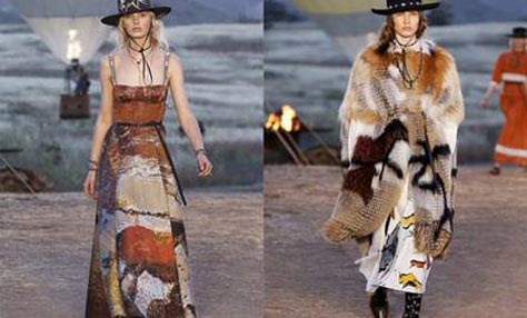 Dior: Επίδειξη με σκηνικό άγριας δύσης