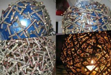 DIY φωτιστικά και χριστουγεννιάτικα στολίδια