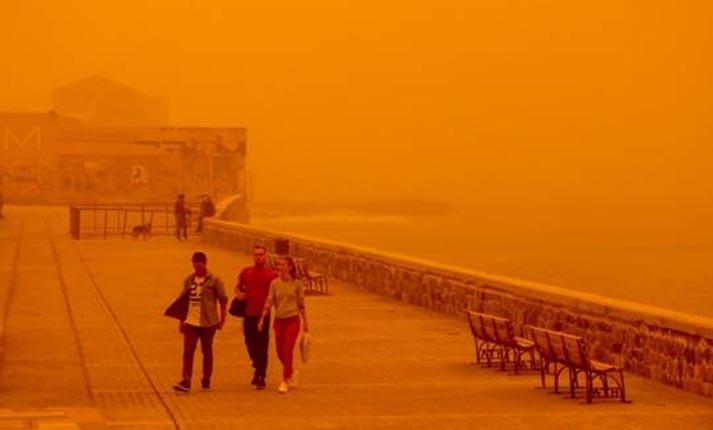 Η επέλαση της αφρικανικής σκόνης στην Κρήτη