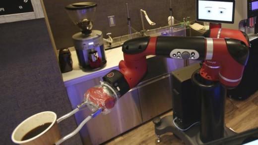 Καφές από ρομπότ σερβιτόρο