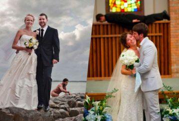 Ξεκαρδιστικές φωτογραφίες με νύφη και γαμπρό