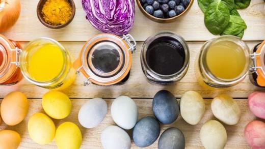 Οικολογικό βάψιμο αυγών