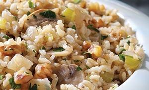 Ρύζι με μανιτάρια