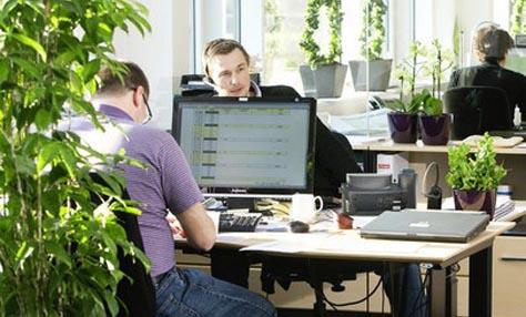 Τα φυτά αυξάνουν την παραγωγικότητα στο γραφείο