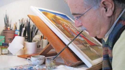 Ζωγραφική με το στόμα και το πόδι